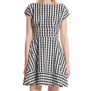 NWT Kate Spade fiorella gingham fit & flare dress